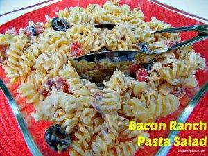 Bacon Ranch Pasta Salad | Who Needs A Cape?
