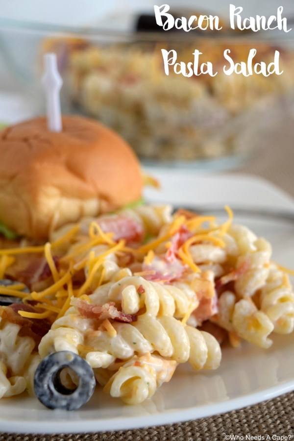 Bacon Ranch Pasta Salad is the perfect side for all your summer meals! Creamy, easy to prepare and always a hit, you'll love this dish!