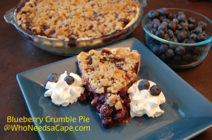If you love blueberries you'll absolutely love homemade Blueberry Crumble Pie. Harvest fresh berries and enjoy this amazing dessert.