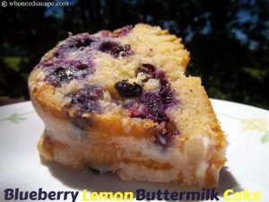 Blueberry Lemon Buttermilk Cake | Who Needs A Cape?