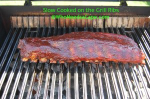 Slow Cooked Grilled Ribs