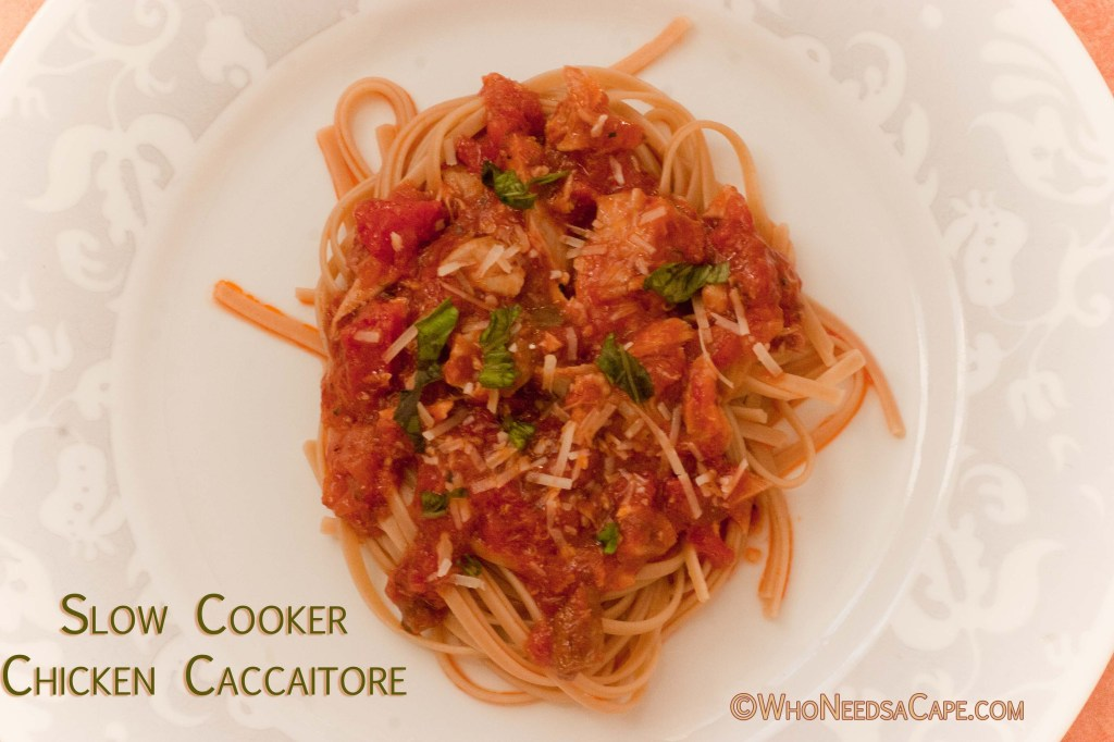 Part of 40 Meals in 4 Hours, you can prep this Slow Cooker Chicken Cacciatore ahead of time and freeze. Then throw into your slow cooker, easy as that.