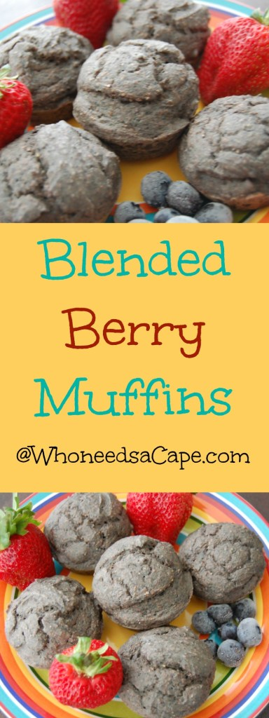 Blended Berry Muffins Collage