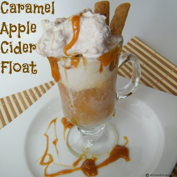 Caramel Apple Cider Float