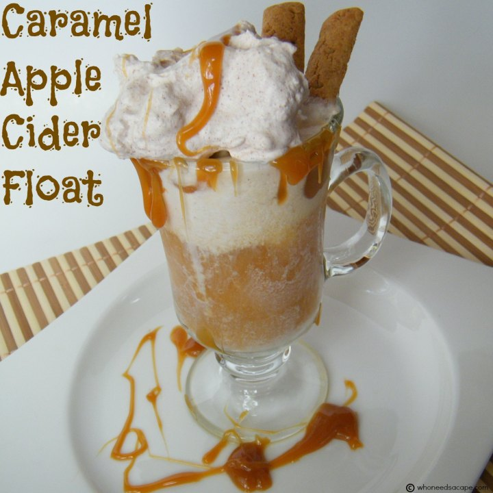 The perfect combination of fall favorites come together in this scrumptious Caramel Apple Cider Float! Perfect for parties or as an after school treat!