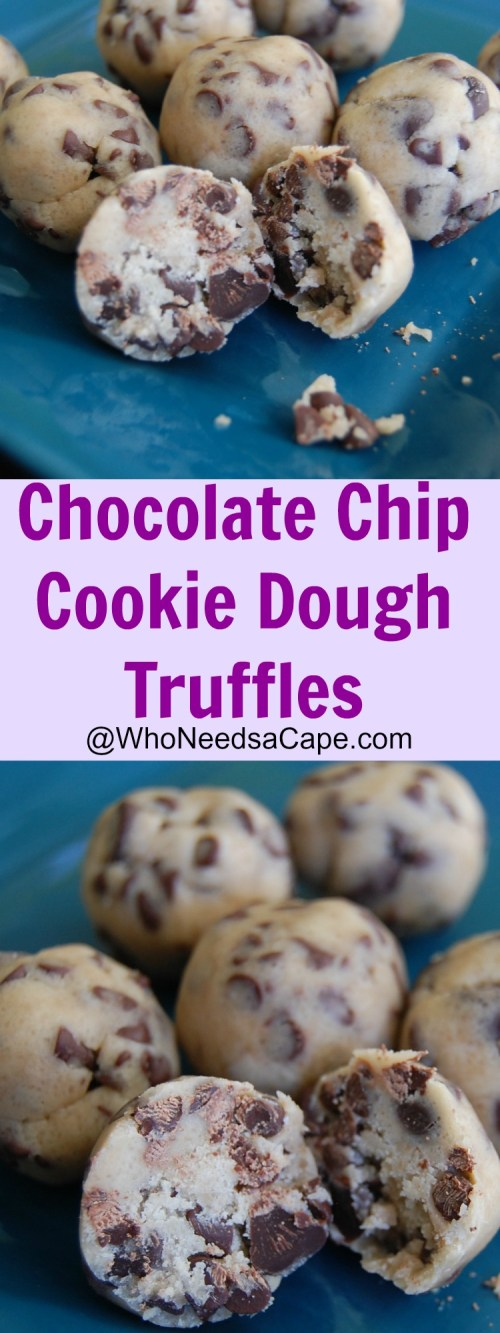 Chocolate Chip Cookie Dough Truffles can be made super quick and easy. They are delicious and everyone will adore them! Make a batch today!