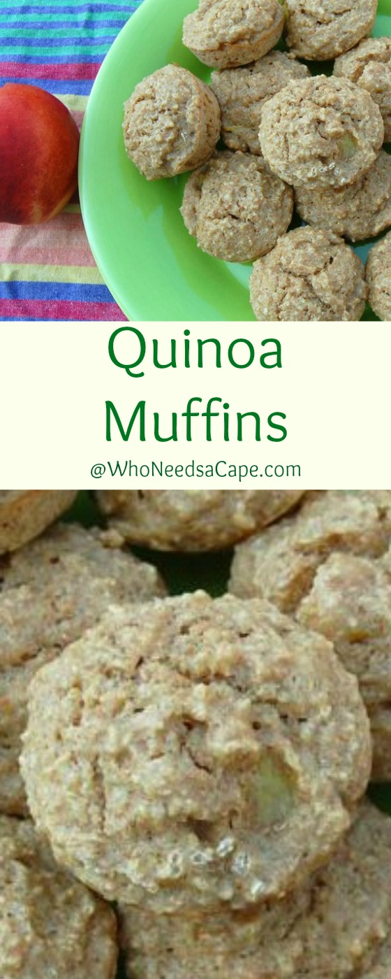 Quinoa Muffins are a great school year muffin - healthy & perfect for breakfast or in the lunch box! Who Needs a Cape