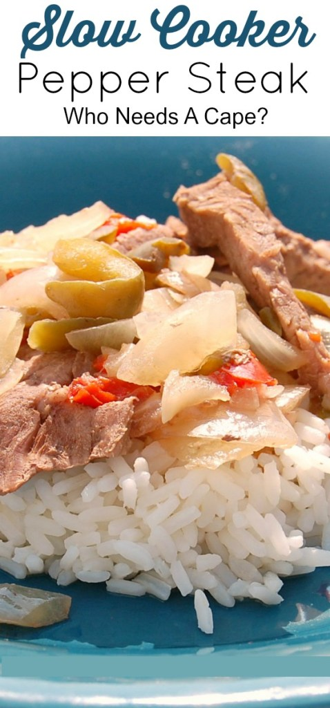 Your family will love Slow Cooker Pepper Steak! Tender pieces of steak, peppers and onions result in one delicious meal from your crockpot.