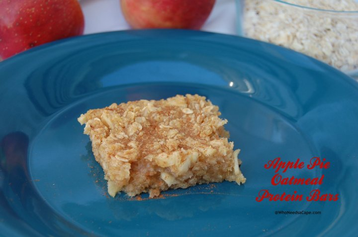 Apple Pie Oatmeal Protein Bars are a great way to get a nutritional breakfast on the go. Perfect for dessert or snacking too!