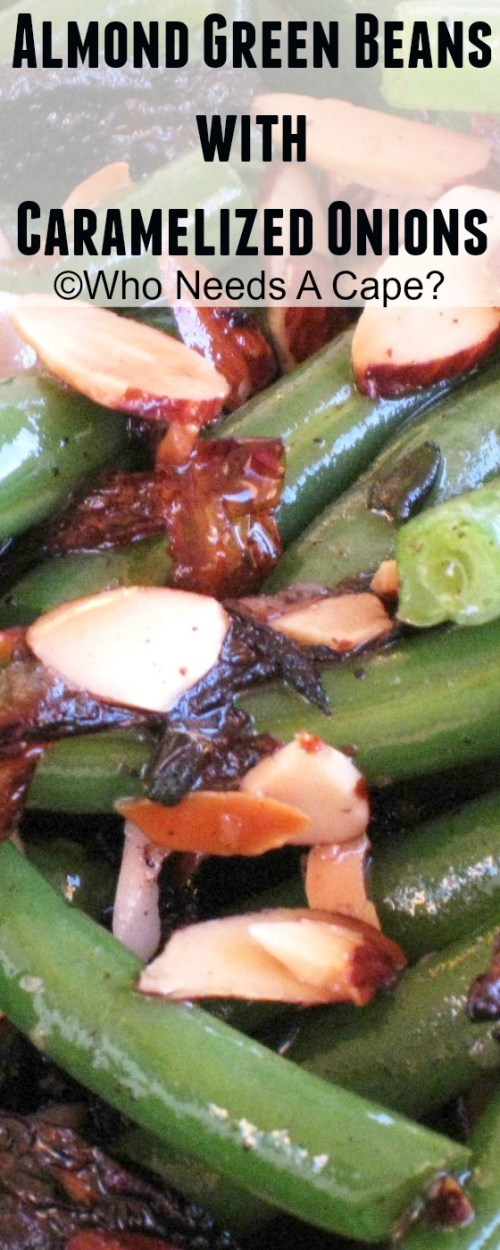 Change up your holiday routine with some delicious Almond Green Beans with Caramelized Onions. Perfect for Thanksgiving or Christmas!