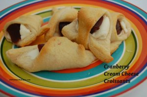 Cranberry Cream Cheese Croissaints