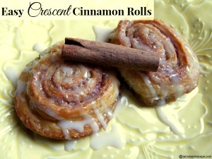 Need a delicious breakfast treat in a snap? Make some super simple Easy Crescent Cinnamon Rolls, they'll disappear trust me!