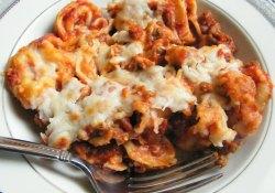 Meaty Cheese Tortellini Casserole