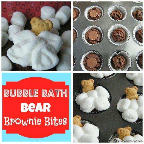 Bubble Bath Bear Brownie Bites