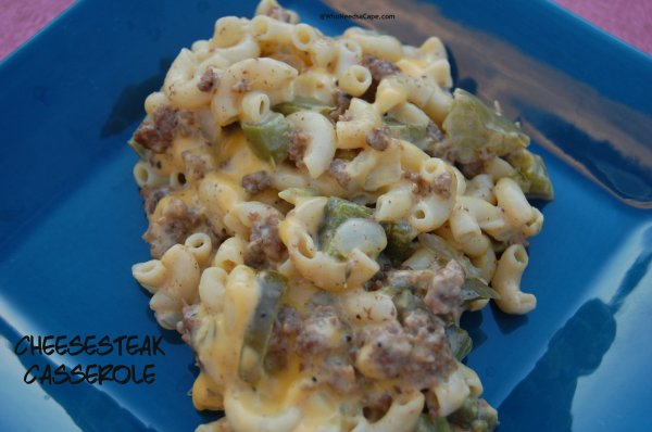 Cheesesteak Casserole | Who Needs A Cape?