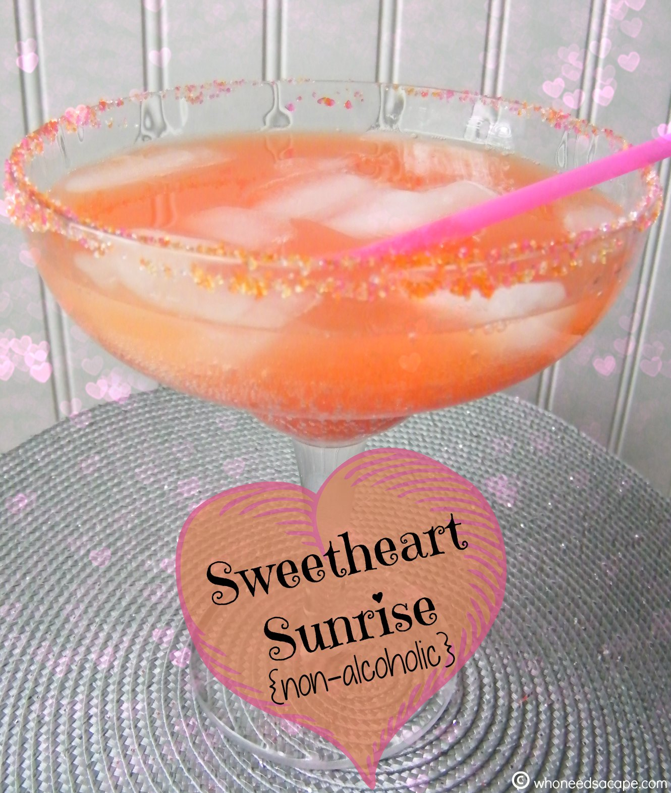 Sweetheart Sunrise Drink {non-alcoholic}