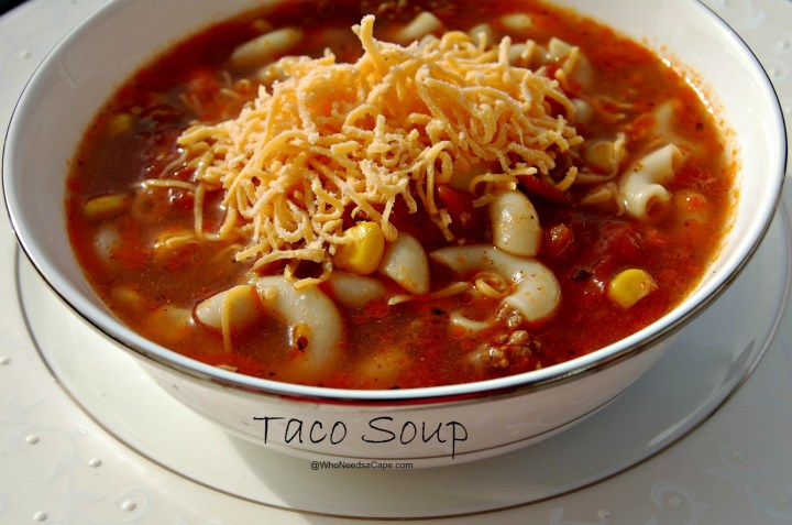 Spice up dinner with some Taco Soup. Get the flavor of tacos with the comfort of a hot bowl of soup! Easy recipe make it tonight!