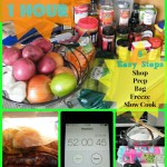 7 Meals in 1 Hour Crockpot Freezer Cooking Shopping List