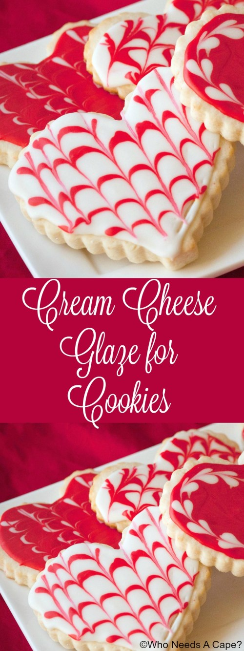 Make this amazing Cream Cheese Glaze for Cookies instead of royal icing! Easy to prepare, perfect for holiday cookies.