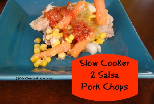 Slow Cooker 2 Salsa Pork Chops