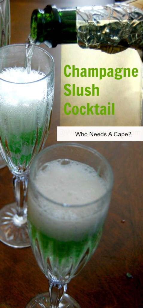 A lovely looking and delicious tasting drink - the champagne slush cocktail is sure to please! Make it for your next brunch or shower!