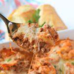 Meaty Cheesy Tortellini Casserole