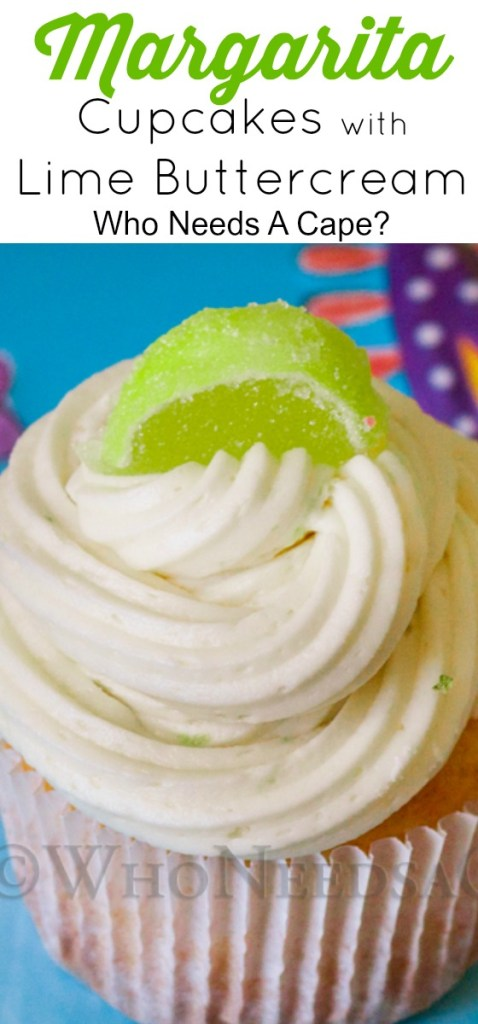 Margarita Cupcakes with Lime Buttercream have that sweet and tart flavors you expect in any margarita. These festive cupcakes are great for Cinco de Mayo!