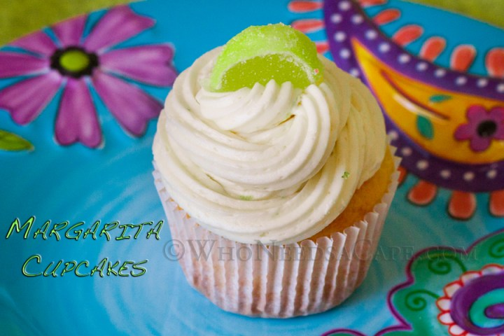 Margarita Cupcakes with Lime Buttercream Frosting