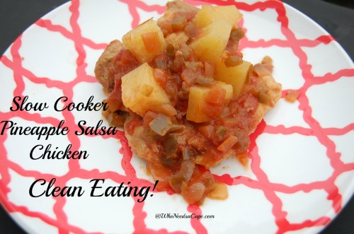 Slow Cooker Pineapple Salsa Chicken