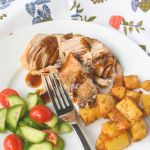 Slow Cooker Brown Sugar & Balsamic Glazed Pork Loin