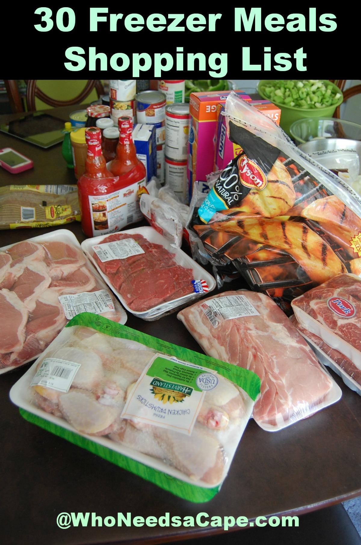list of freezer meals