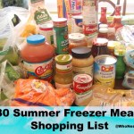30 Freezer Meals ~ Shopping List