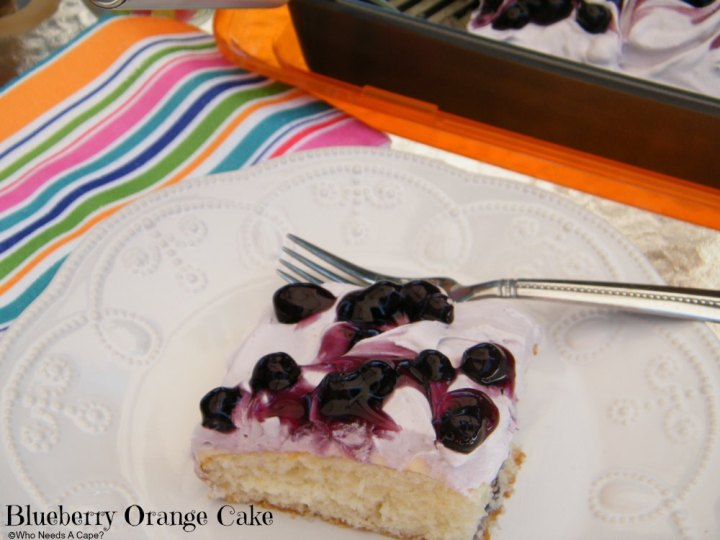 Blueberry Orange Cake is a fabulously simple dessert. Creamy, fruity and delicious, your guests will love the flavor combination!