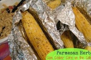 Parmesan Herb Slow Cooker Corn on the Cob