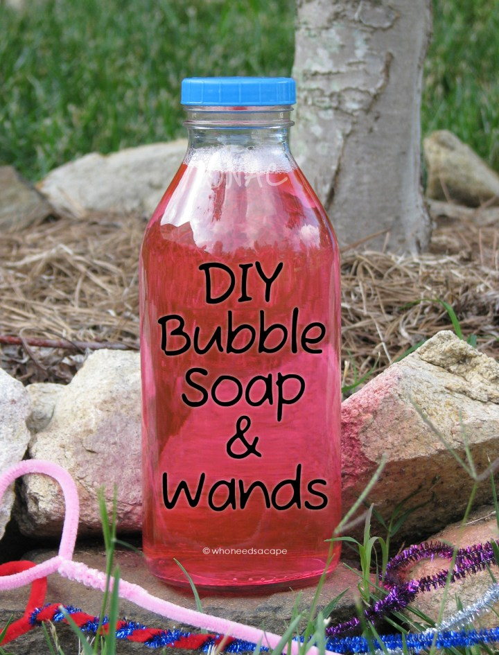 DIY Bubble Soap and Wands — make your own summer fun with homemade bubble solution and wands! Simple fun for both kids and adults.