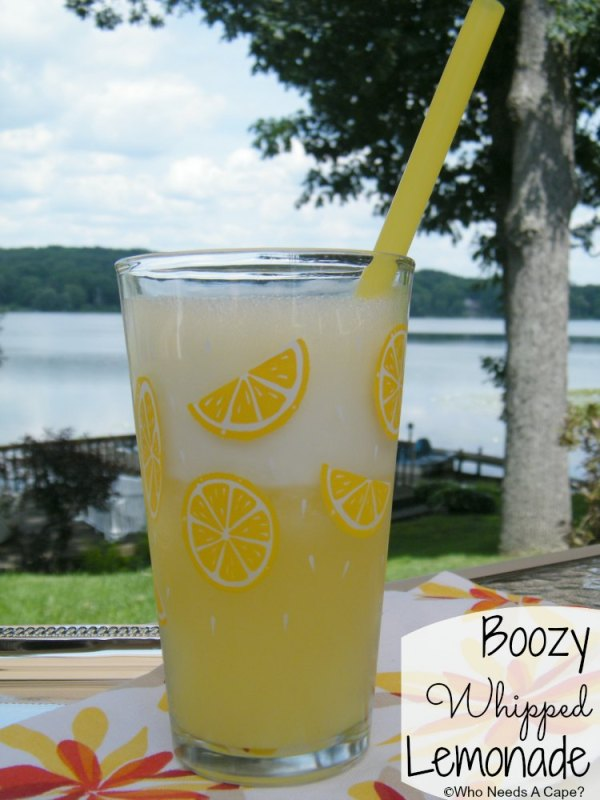 Boozy Whipped Lemonade | Who Needs A Cape?