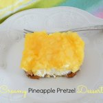 Creamy Pineapple Pretzel Dessert