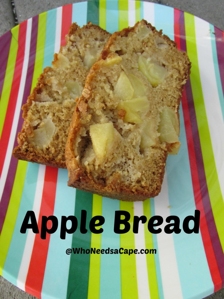 Apple Bread is a quick bread that will taste like dessert. It's full of fall flavors and a great treat to make - easy recipe too!