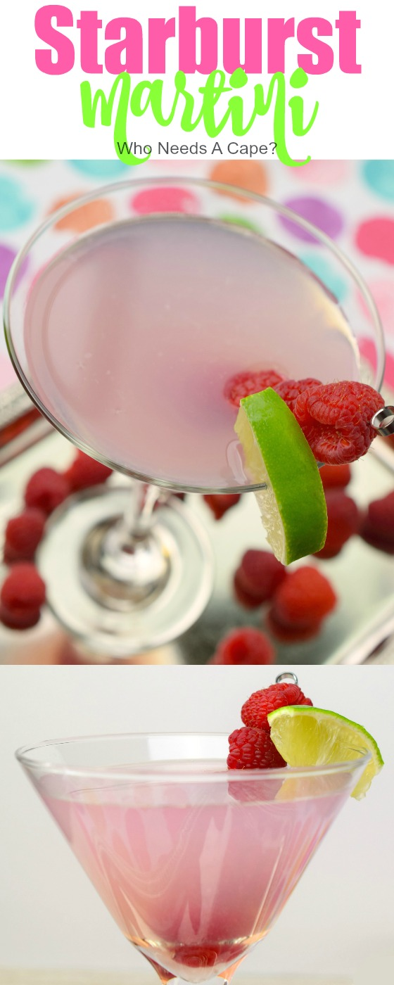 YUM! The Starburst Martini is a fun and flavorful cocktail that will remind you of the light pink Starburst candy. Super yummy, you'll love the flavor.