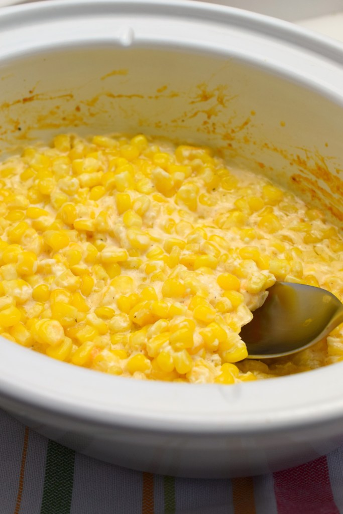 This slow cooker Cheesy Slow Cooker Corn is a great way to add some variety to your side dishes. Easy to prepare and who doesn't love cheese and corn?