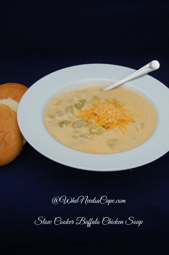 Slow Cooker Buffalo Chicken Soup will spice up your mealtime! Make this creamy, delicious soup in your crockpot and dinner is done!