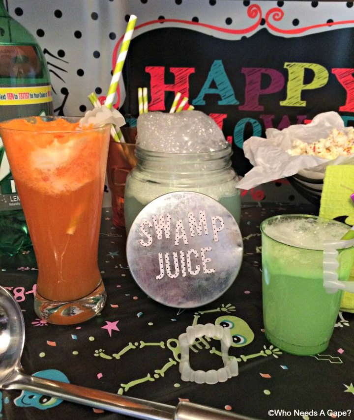These Spooky Halloween Drinks use TEN Soda, save calories without losing flavor. Orange Scream-sicle Cocktail and Swamp Juice will be huge party hits.