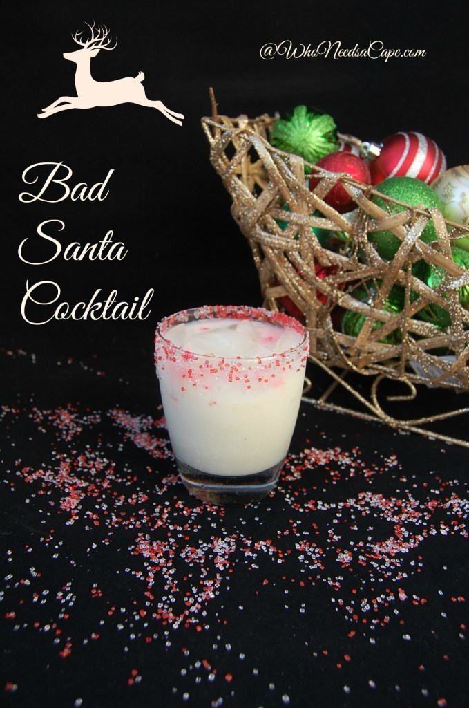 A Bad Santa Cocktail is the perfect cocktail for the holiday season! With a delicious sugar cookie flavor, it is great for Christmas parties!
