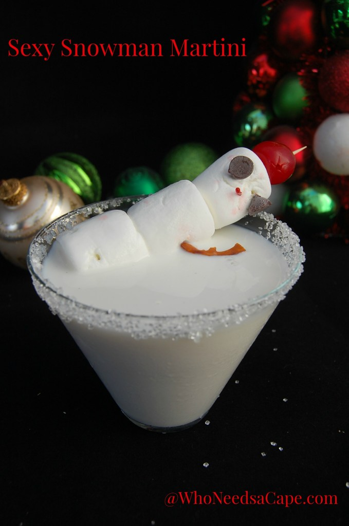 The Sexy Snowman Martini is a yummy White Chocolate Martini - made in Holiday Style! It's a perfect dessert drink to serve on just about any occasion!