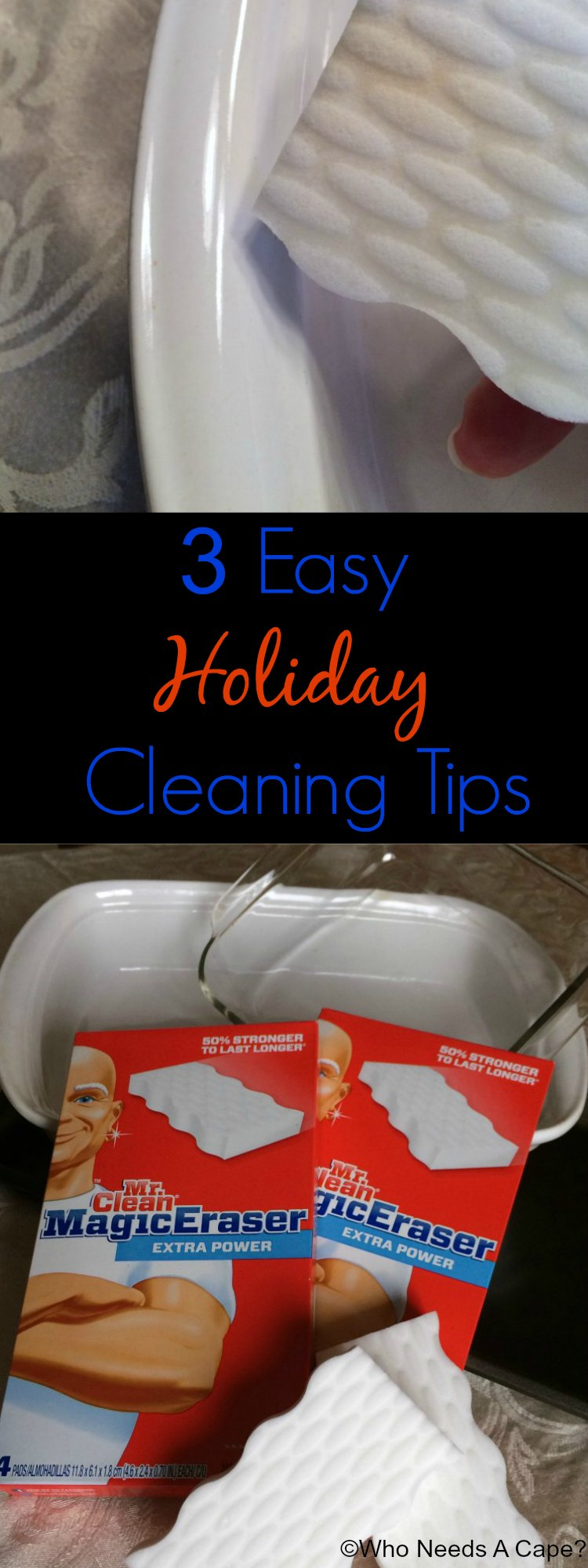 3 Easy Holiday Cleaning Tips | Who Needs A Cape? #MrCleanMillion