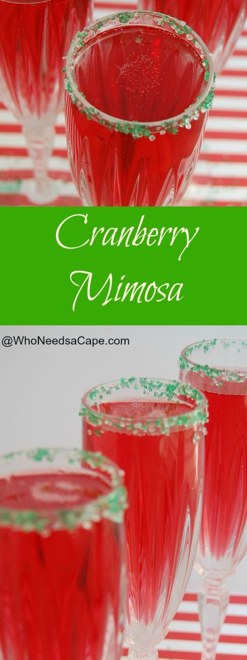 Cranberry Mimosa (or a Poinsettia) is the perfect holiday cocktail. Serve this champagne cocktail at brunch, breakfast, dinner!