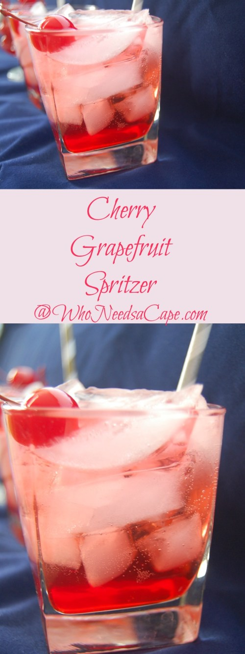 Cherry Grapefruit Spritzer is a 3-ingredient cocktail that everyone can make. It's light, flavorful, and refreshing – and you should make one today!