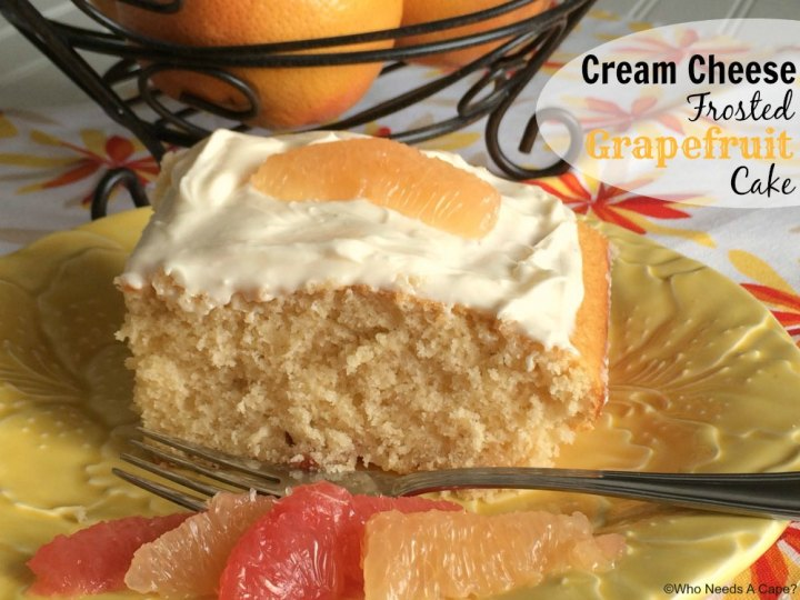 Deliciously flavorful Cream Cheese Frosted Grapefruit Cake is a light dessert that gives you the beloved flavor of grapefruit in a dessert that is lovely.