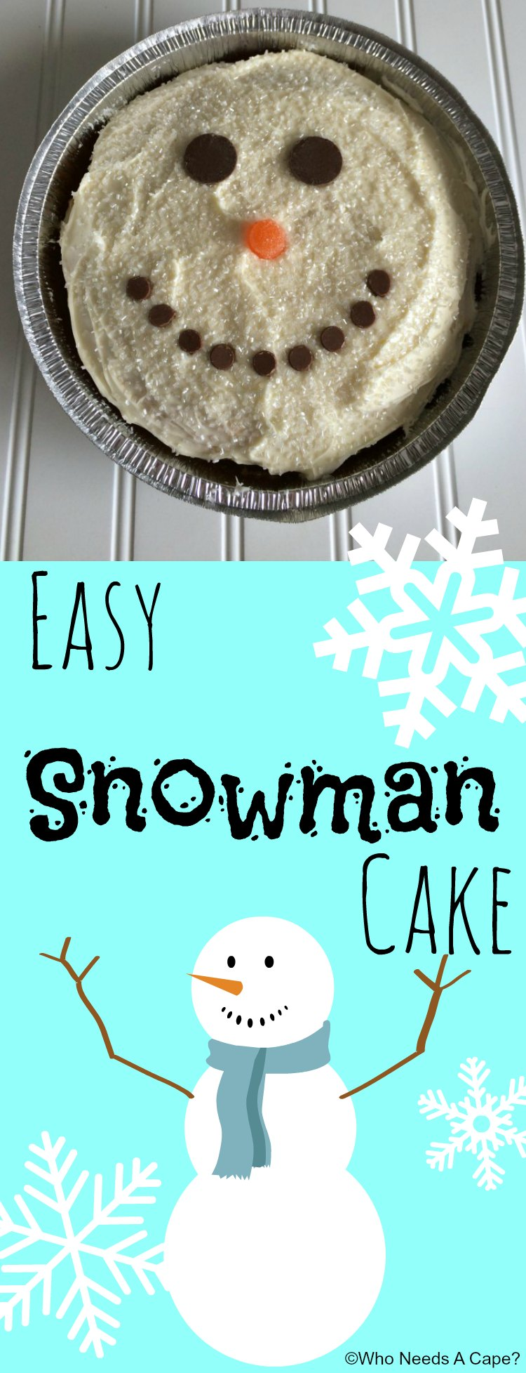 Easy Snowman Snack: Who Needs A Cape?