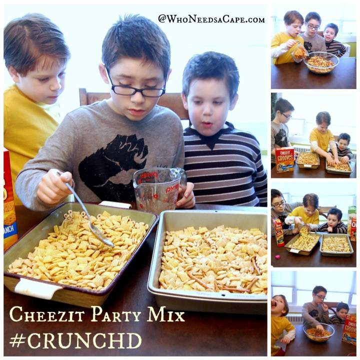 Crunched Cheezit Party Mix Collage
